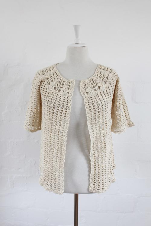 Lovely authentic vintage fully crocheted knit jersey. Very good