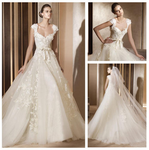 Wedding Gown 2013: Ivory Lace And Tulle Sweetheart Ball