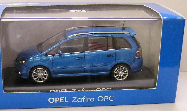 models minichamps diecast model car opel zafira opc 1 43 scale new in box was sold for. Black Bedroom Furniture Sets. Home Design Ideas