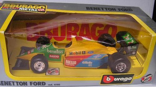 Models  Burago Diecast Model Car 6102 Benetton Ford F1 F 1 Grand Prix
