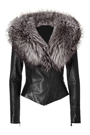 Ladies Leather Jacket With Fur Collar | Outdoor Jacket