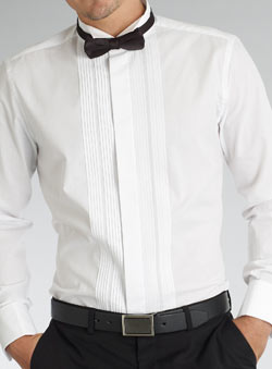 Black Shirt Dress on The Formal Wear Package   White Winged Collar Dress Shrit   Black