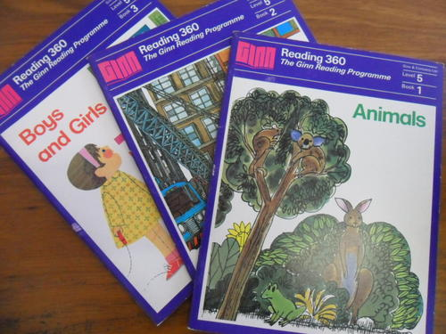 Lot of 36 Ginn and Company Children's Reading books and Teachers Manuals Lot 1950's