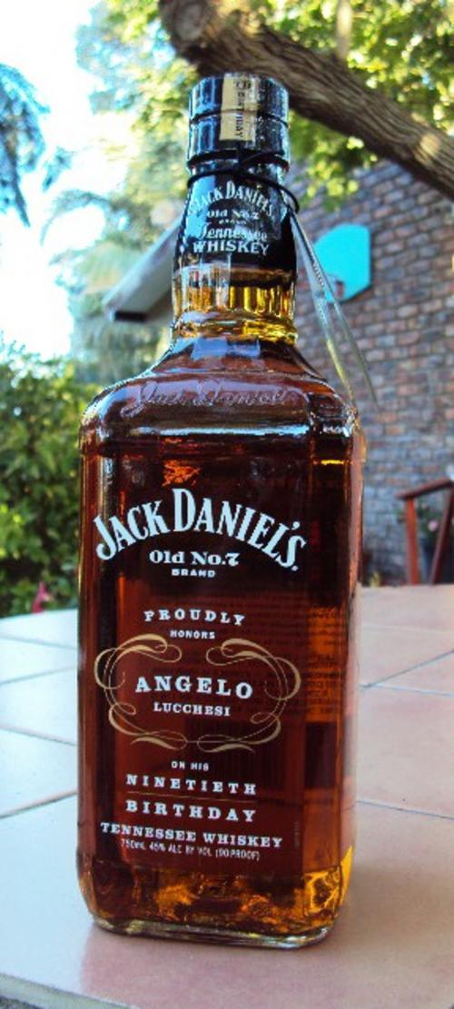 bar accessories jack daniels angelo lucchesi 90th birthday 750ml bottle was sold for r1. Black Bedroom Furniture Sets. Home Design Ideas