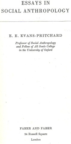 anthropological essays