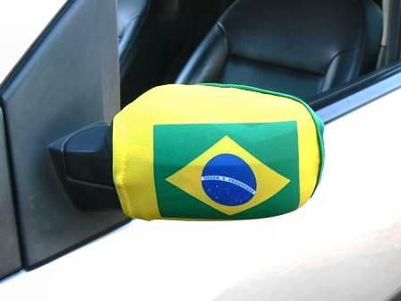 car mirror cover flag brazil brazilian brazillian bra zil yellow side