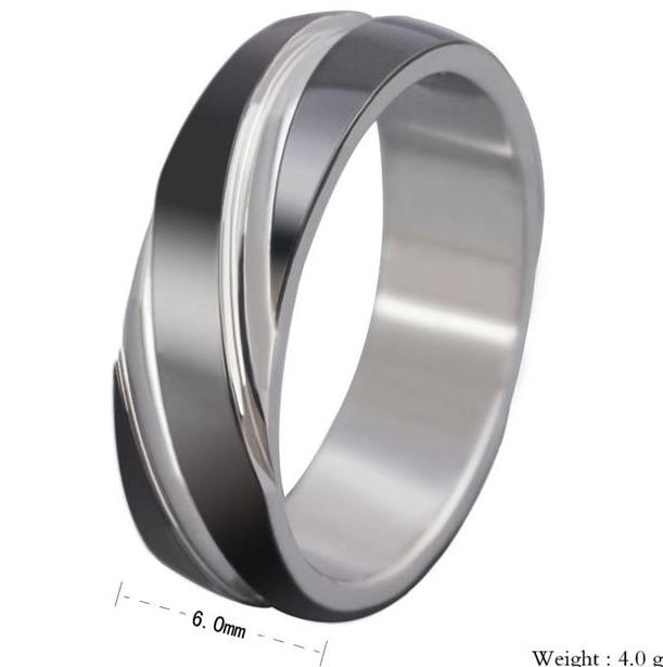 rings charcoal 6mm mens stainless steel wedding band ring size 11