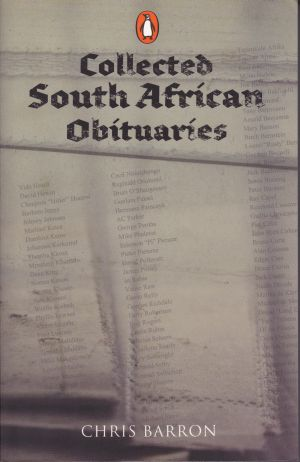 Collected South African Obituaries Chris Barron