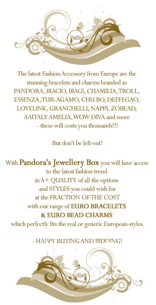 pandora pando pardora padora P0NDORA Euro troll Biagi chamilia donna mia troll gold charm bracelet