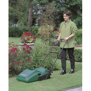 Qualcast Concorde 32 Electric Cylinder Lawnmower (32 cm Cutting Width)