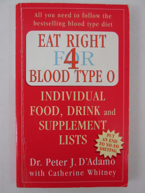eat right for your type essay Programs and supplements designed to be right for you we're different because you are individual guidepost of your blood type for eating and living.