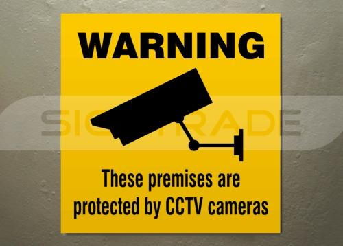 Prevent vandalism and potential break ins with cctv security signage