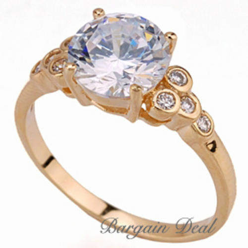 brilliant cut engagement rings. Engagement Ring clad in 18K