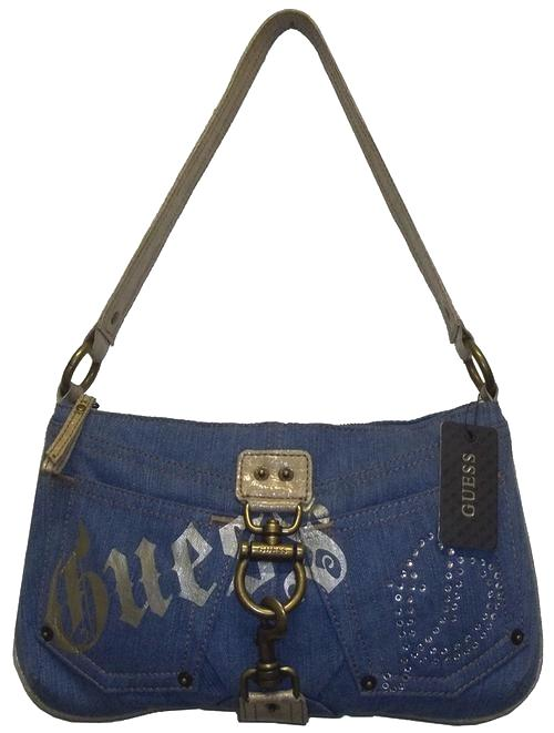 Handbags u0026 Bags - Guess Denim Shoulder Bag was sold for R385.00 on 6 May at 0808 by Fashion ...