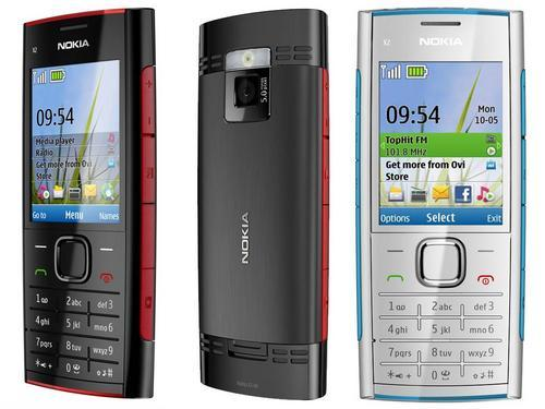 1202899 100925143444 Nokia X2 00 Black White Blue Red