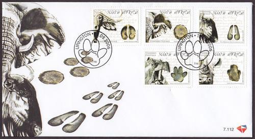 (原创)看邮票识南非5:动物足迹 - 六一儿童 - 译海拾蚌