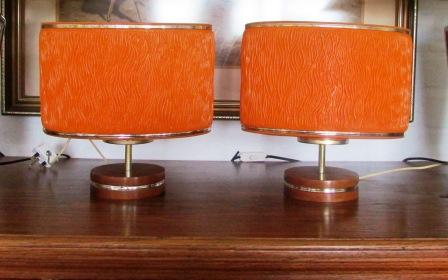 table lamps retro lamps on wooden bases x 2 made in usa was listed. Black Bedroom Furniture Sets. Home Design Ideas