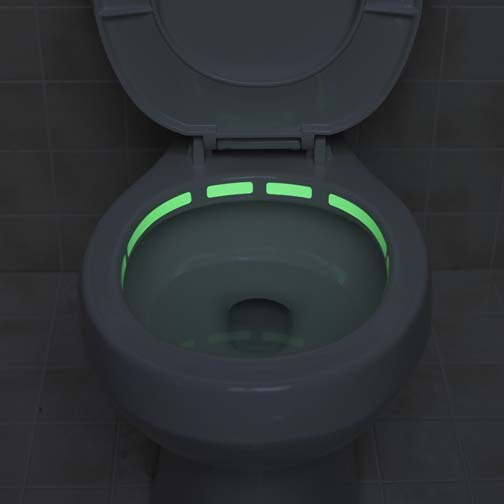 Glow in the dark toilet strips