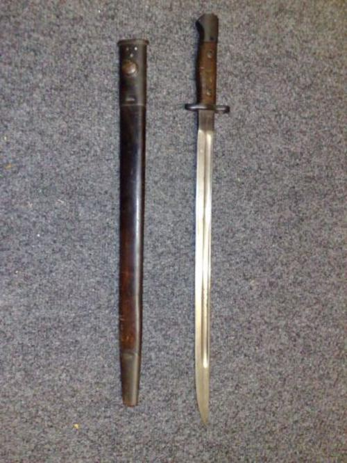 Bayonet dating from World War 1