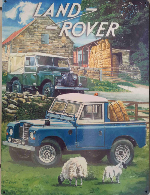 signs land rover defender metal sign mt21 was listed for on 8 jul at 09 02 by pub. Black Bedroom Furniture Sets. Home Design Ideas