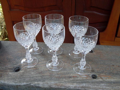 Drinking Glasses Stemware Vintage Rather Lovely Set