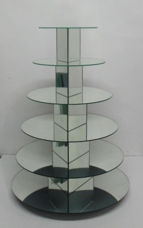 Cake Stand Home Decor : Other Home Decor - 6 Tier round mirror cake/cupcake stand ...