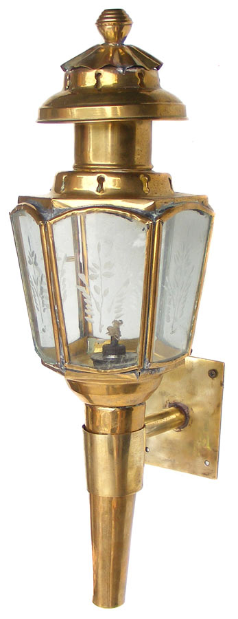 Wall Mounted Brass Oil Lamps : Other Lighting - Vintage Brass CarriageType Wall Mount Lantern/Oil Lamp - Can be converted ...