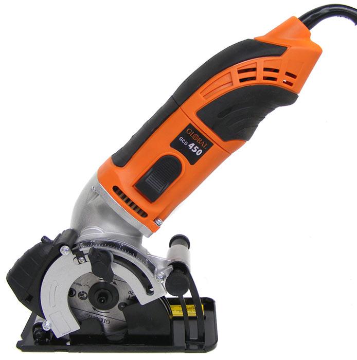 super handy new global 450watt mini circular hand saw with laser guide