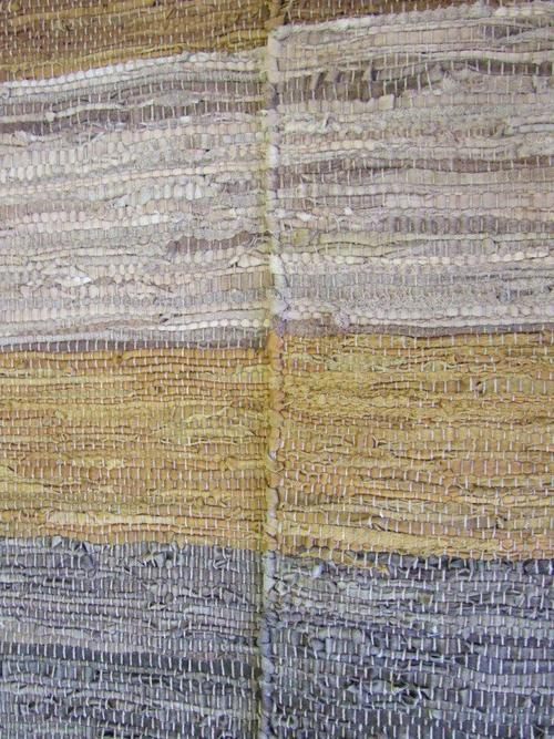Leather dhurrie kilim earthy neutral natural colours