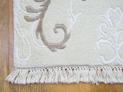 MODERN HANDWOVEN RUG WHITE CREAM BEIGE COLOURS