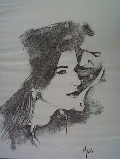 Pencil Sketch of Lovers Pencil Sketch of Lovers