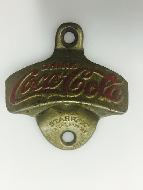 cork screws bottle openers vintage coca cola bottle opener wall mount starr x was sold for. Black Bedroom Furniture Sets. Home Design Ideas