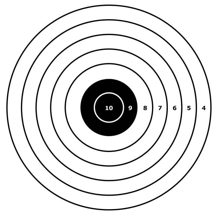 Crush image within printable air rifle targets