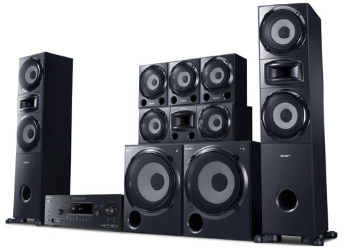 other home audio sony 6 2 surround sound home theater. Black Bedroom Furniture Sets. Home Design Ideas