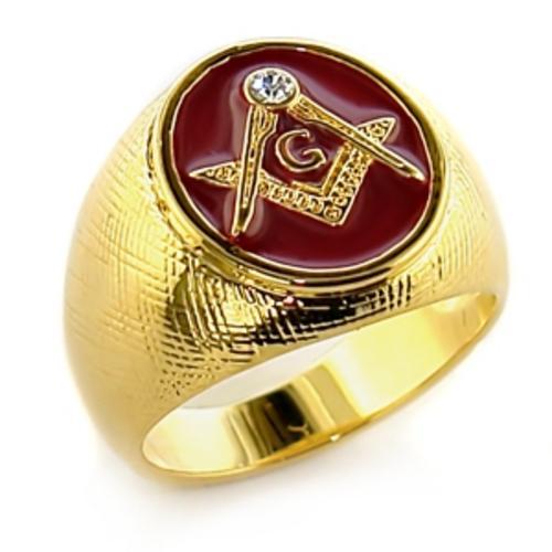 Freemason Ring For Sale Red Masonic Freemason Ring