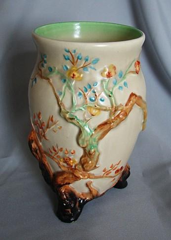 English Porcelain Clarice Cliffcherry Tree Vase1937 1938 Was