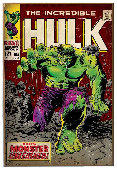 Marvel Wood Wall Decor : Wall hangings marvel comics hulk unleashed wood