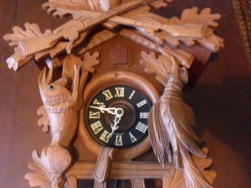 Cuckoo Amp Wall Clocks A Large Hunting Scene West German