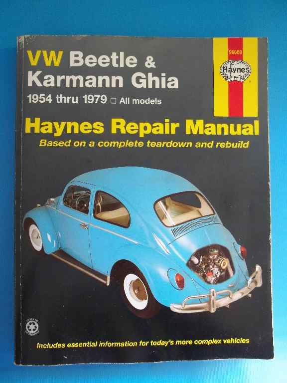 Haynes Repair Manual - VW Beetle & Karmann Ghia 1954-1979