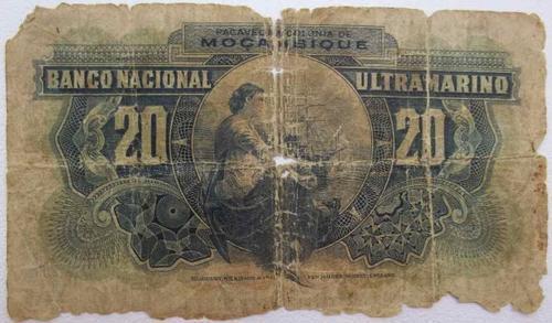 Banco National Ultramarino Mocambique Vinte Escudos 1937