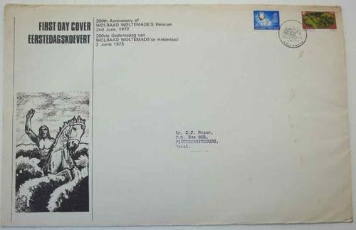 200th Anniversary Of Wolraad Woltemade's Heroism 2nd June 1973 First Day Cover