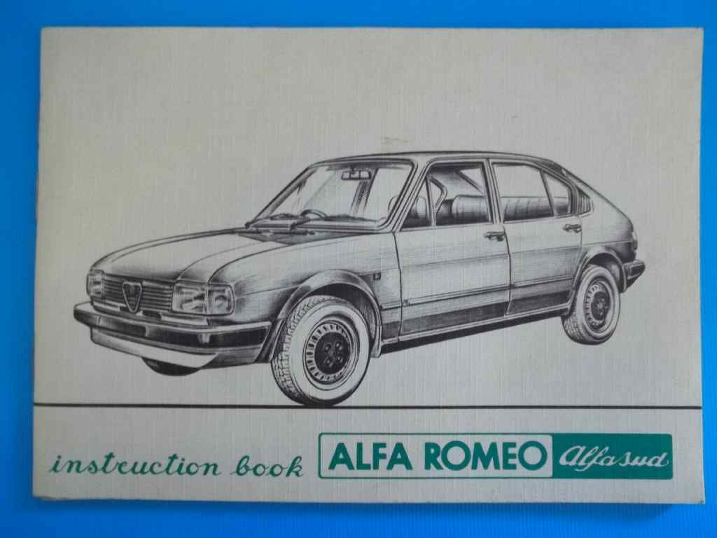 Alfa Romeo/Alfa Sud - Instruction Book