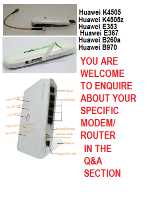 modem booster antenna, hspa booster, router booster antenna