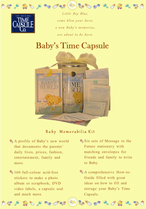 announcements baby 39 s time capsule free shipping best baby shower