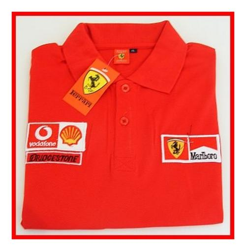 Shirts red ferrari golf shirt size large slim fit for Slim fit golf shirts