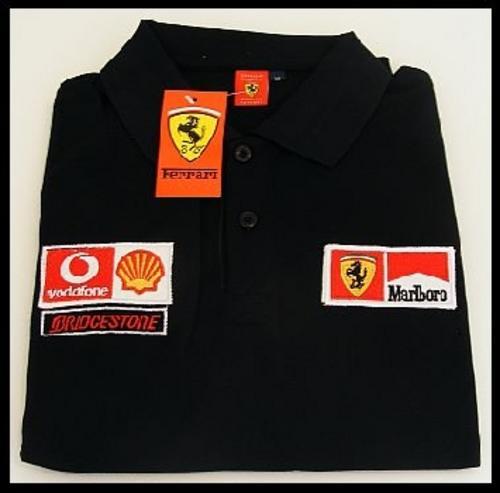 Black Golf Shirt Black Ferrari Golf Shirt