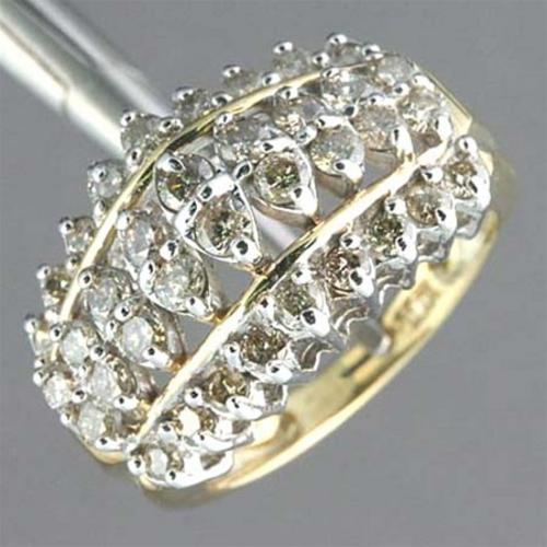 ***R34 300.00*** 1.50 ctw. Diamond 10K Yellow Gold Ring