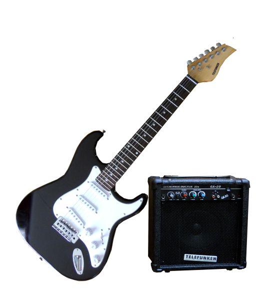 electric electric guitar amplifier guitar bag cd brand new was sold for r1. Black Bedroom Furniture Sets. Home Design Ideas