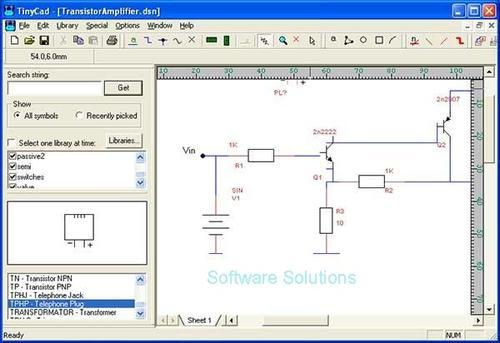 Developer Tools Tinycad 2 8 Drawing Electrical Circuit