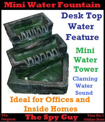 Indoor Fountains Water Tier Flow Feature Mini Table Top